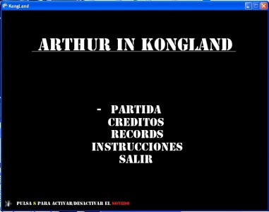 Arthur In Kongland Menu